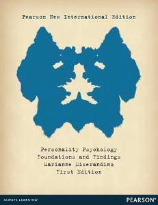 Personality Psychology: Pearson New International Edition: Fndtnons and Findings