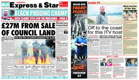 Express and Star Sandwell Edition – September 12, 2017
