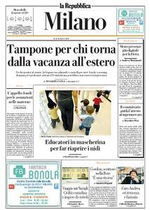 la Repubblica Milano - 12 Agosto 2020