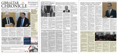Gibraltar Chronicle – 22 July 2021
