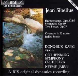Dong-Suk Kang, Gothenburg SO, Neeme Jarvi - Jean Sibelius: Humoresques, Serenades, Overture, Ballet Scene (1990)