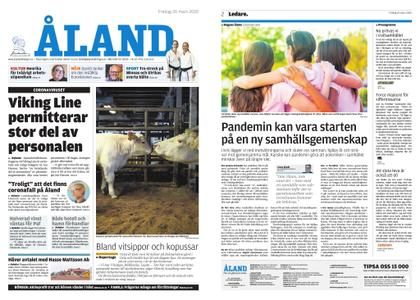 Ålandstidningen – 20 mars 2020