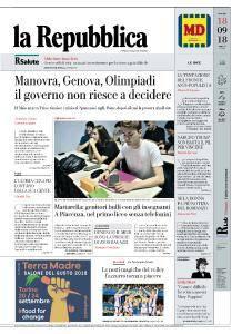 la Repubblica - 18 Settembre 2018