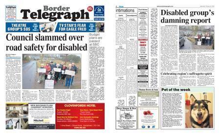 Border Telegraph – February 21, 2018
