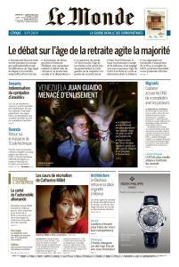 Le Monde du Dimanche 7 et Lundi 8 Avril 2019