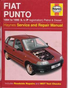Fiat Punto (1994-1996 L to P Registration Petrol & Diesel) Haynes Service and Repair Manual