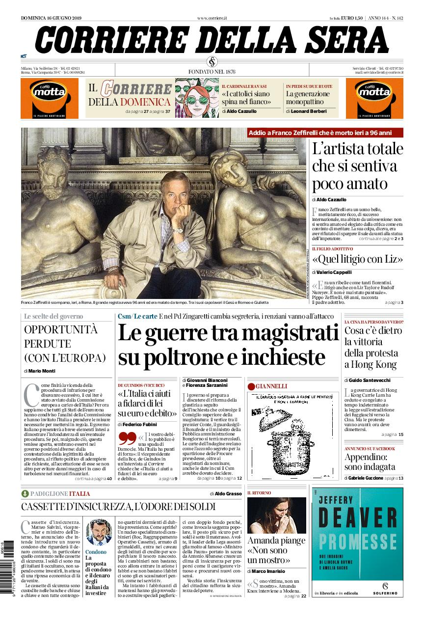 Corriere della Sera – 16 giugno 2019