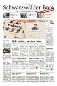 Schwarzwälder Bote Blumberg - 22. August 2018