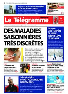 Le Télégramme Ouest Cornouaille – 10 janvier 2021