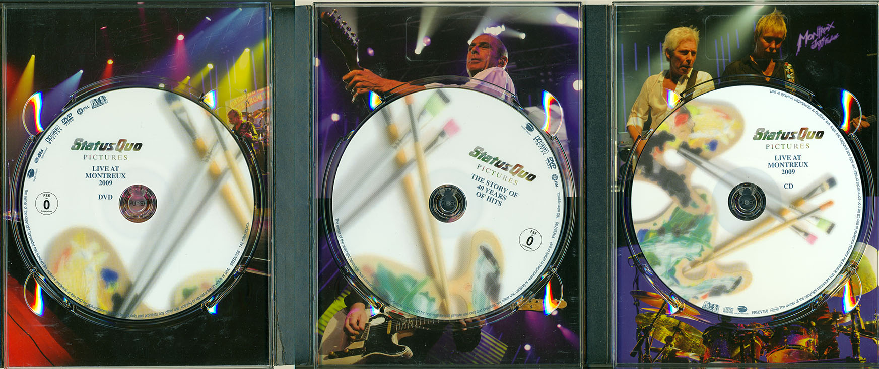 Status Quo - Pictures: Live At Montreux 2009 (2009) 2 DVD + CD Deluxe Edition
