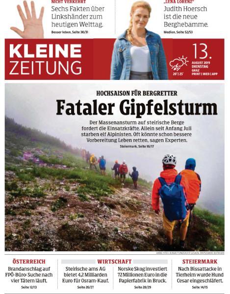 Kleine Zeitung Steiermark - 13 August 2019