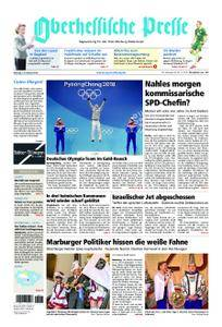 Oberhessische Presse Marburg/Ostkreis - 12. Februar 2018
