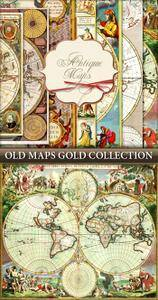 Vintage Old Maps Gold Collection
