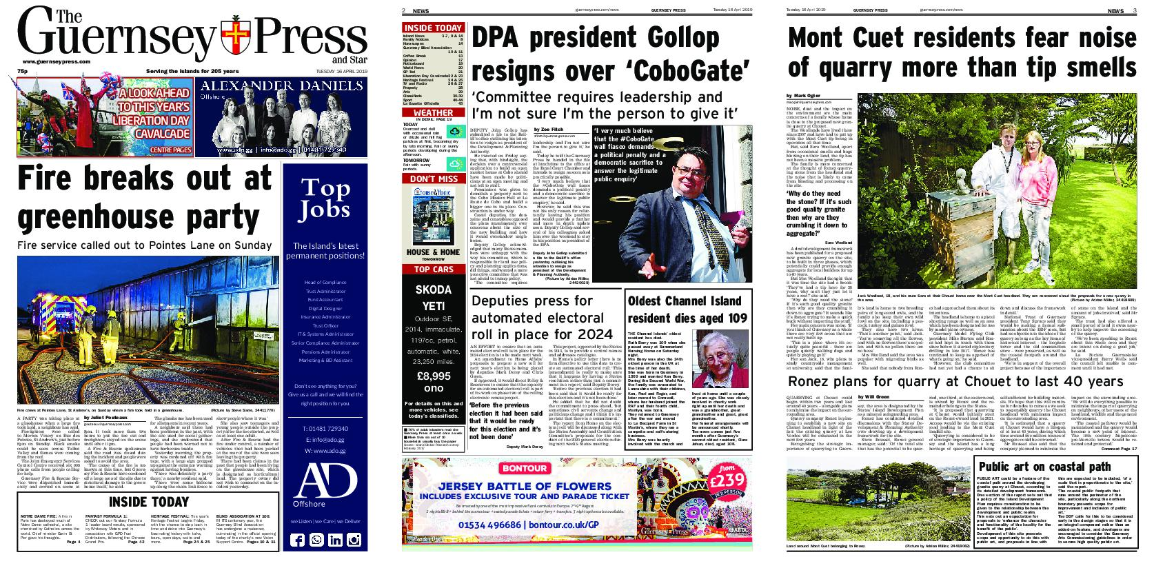 The Guernsey Press – 16 April 2019