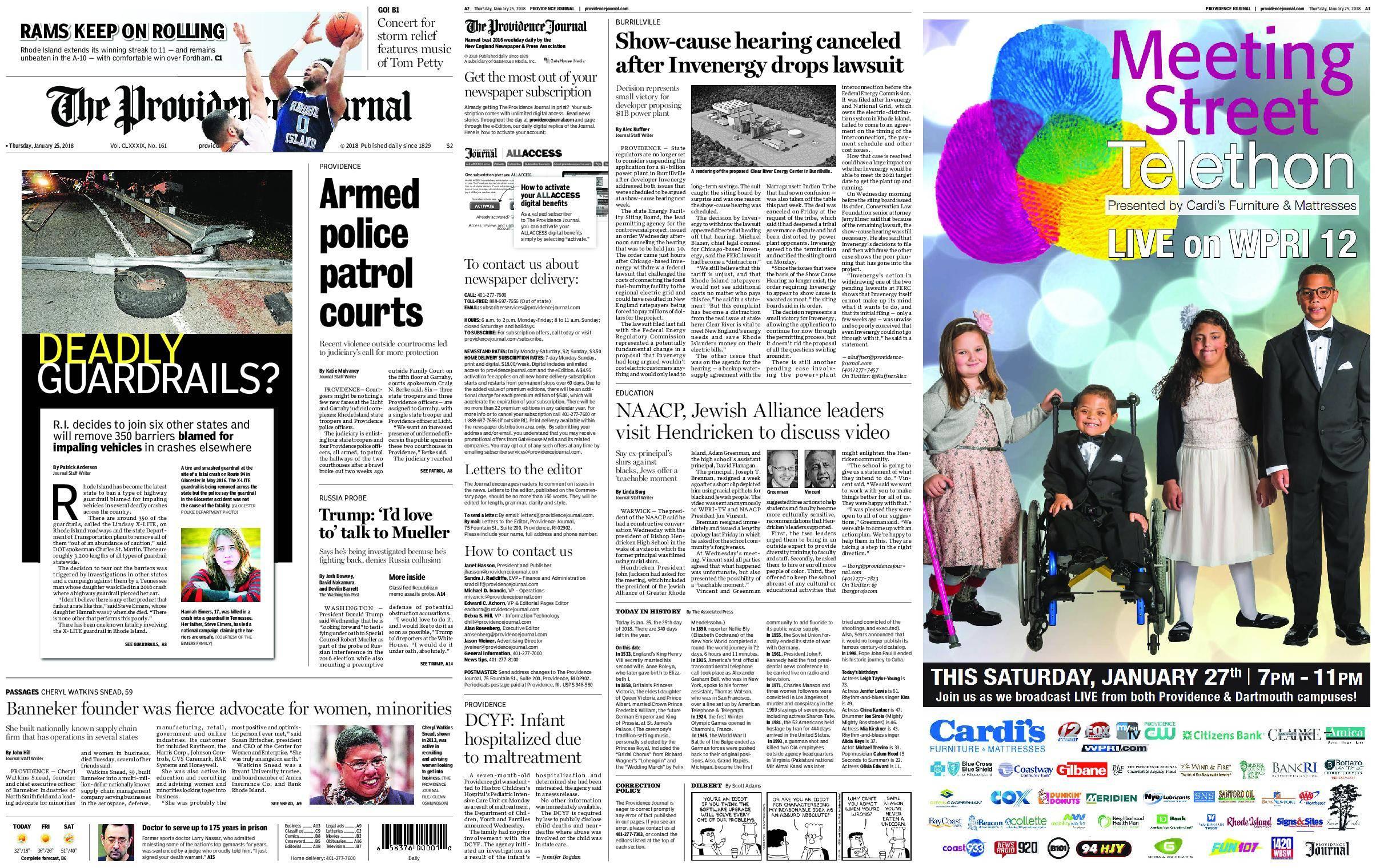 The Providence Journal – January 25, 2018 / AvaxHome