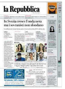 la Repubblica - 10 Settembre 2018