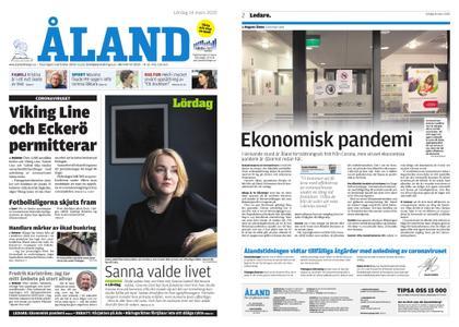 Ålandstidningen – 14 mars 2020