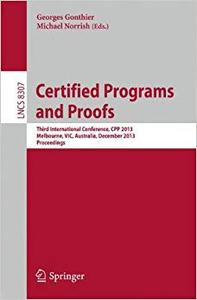 Certified Programs and Proofs (Repost)