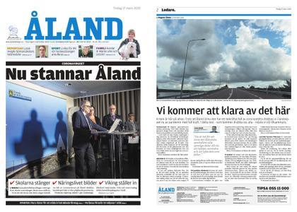 Ålandstidningen – 17 mars 2020