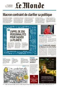 Le Monde du Mardi 4 Septembre 2018