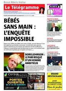 Le Télégramme Brest Abers Iroise – 16 septembre 2019