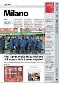 la Repubblica Milano - 22 Marzo 2018