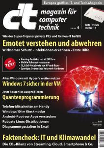 c't Magazin Nr.6 - 29 Februar 2020