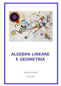 Francesco Bottacin - Algebra lineare e geometria