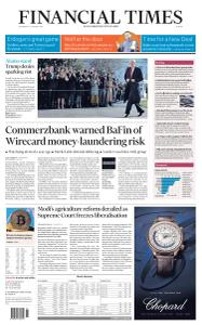 Financial Times Europe - January 13, 2021