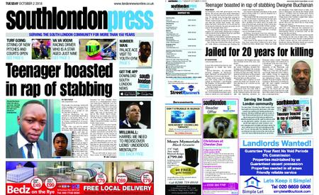South London Press – October 02, 2018