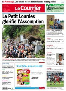Le Courrier de l'Ouest Nord Anjou – 16 août 2019