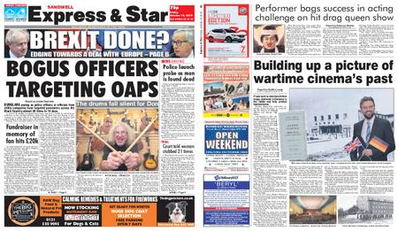 Express and Star Sandwell Edition – October 18, 2019