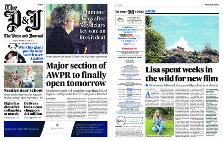 The Press and Journal Moray – December 11, 2018