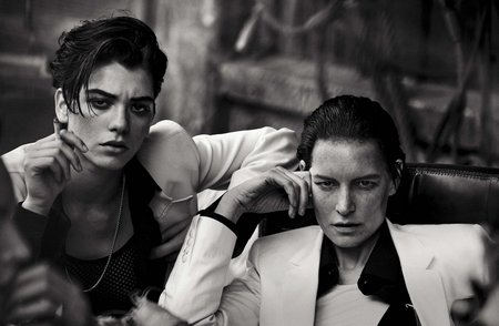 Lunch in Brooklyn by Peter Lindbergh for Vogue Italia May 2015