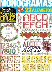 Trabalhos & Gráficos Ponto Cruz № 8 2010  - Monogramas