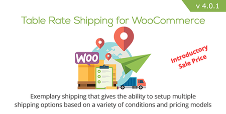 CodeCanyon - Table Rate Shipping for WooCommerce v4.0 - 3796656