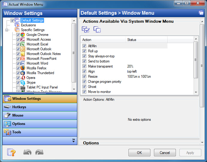 Actual Window Menu 8.14.0 Multilingual