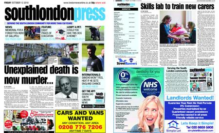 South London Press – October 12, 2018