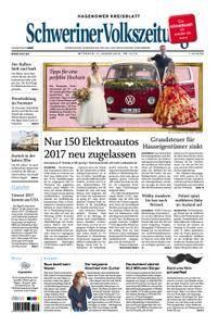 Schweriner Volkszeitung Hagenower Kreisblatt - 17. Januar 2018