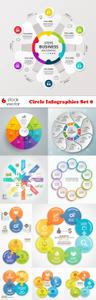 Vectors - Circle Infographics Set 8