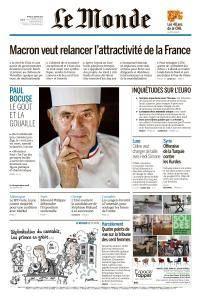Le Monde du Mardi 23 Janvier 2018
