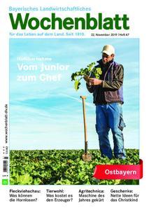 Bayerisches Landwirtschaftliches Wochenblatt Ostbayern - 21. November 2019