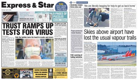 Express and Star City Edition – April 06, 2020