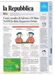 la Repubblica - 10 Marzo 2018