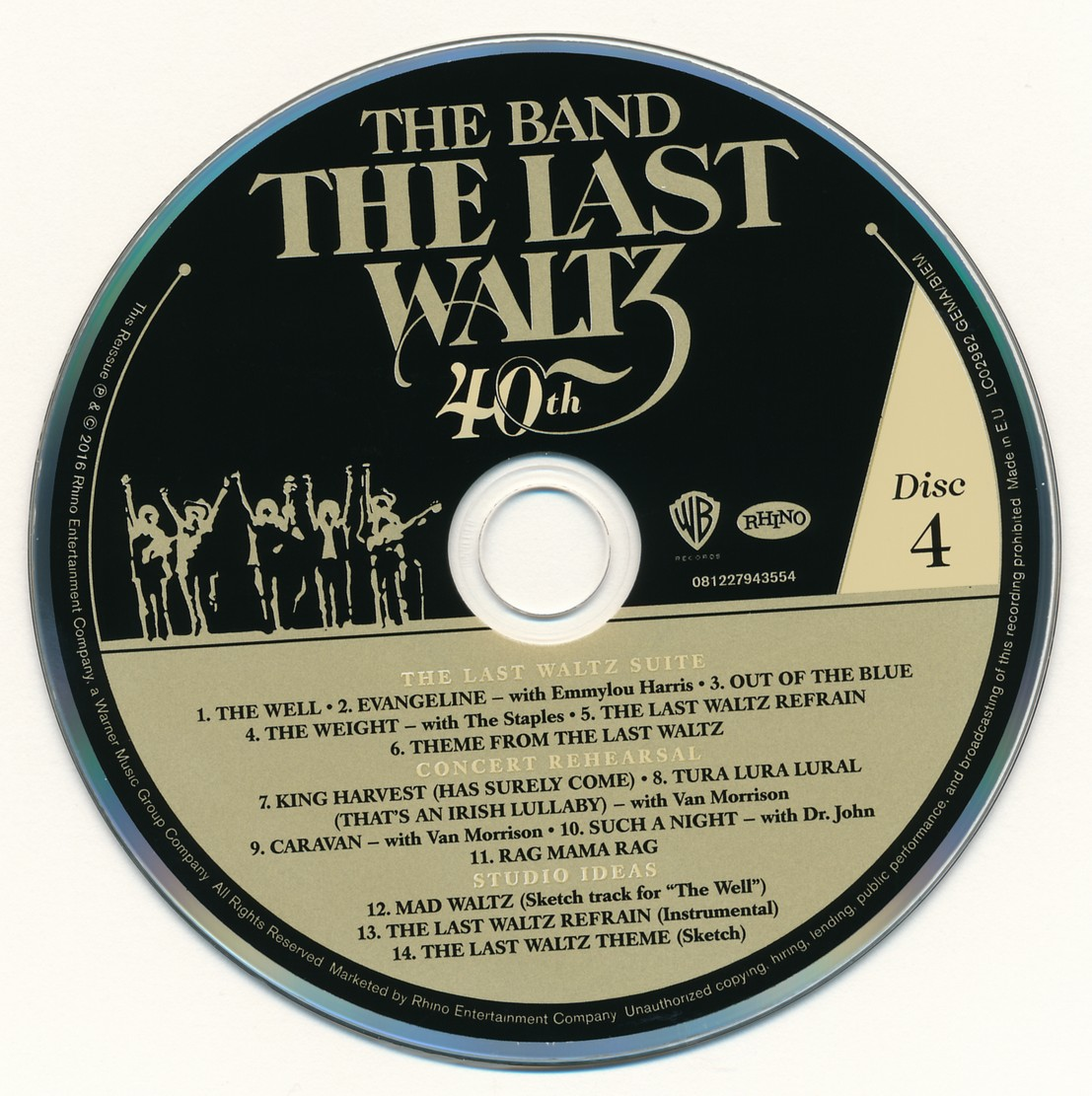 The Band The Last Waltz 1976 40th Anniversary Deluxe