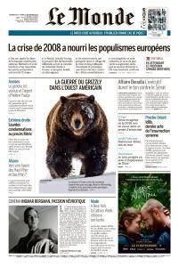 Le Monde du Dimanche 16 et Lundi 17 Septembre 2018