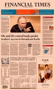 Financial Times Europe – 20 December 2019