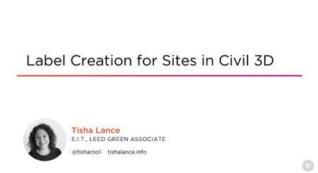 Label Creation for Sites in Civil 3D