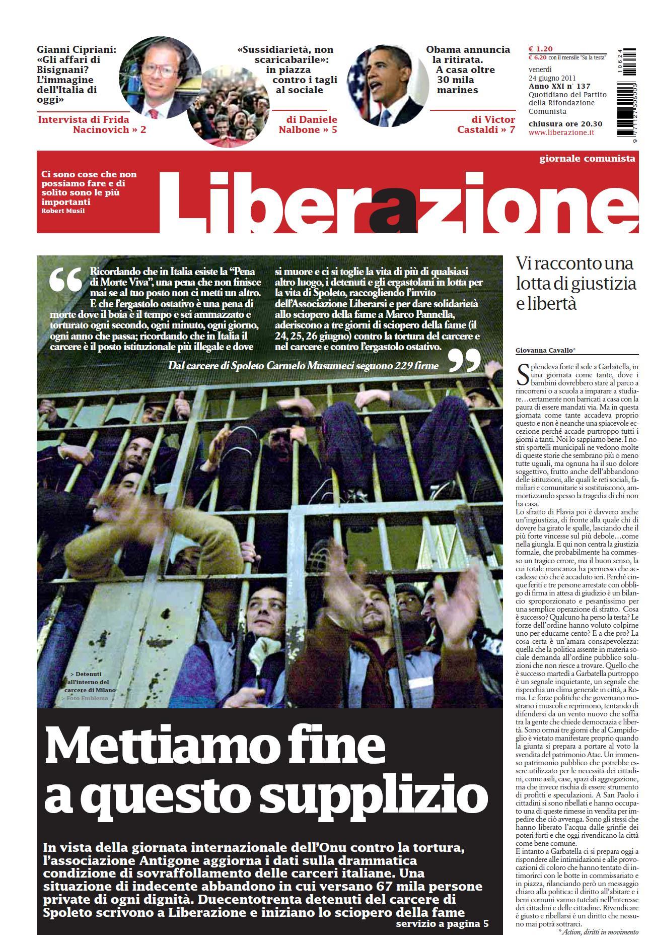 LIBERAZIONE 24 GIUGNO 2011