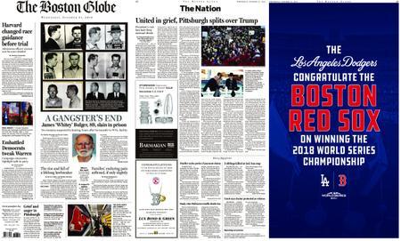 The Boston Globe – October 31, 2018